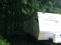 Our site at Tall Chief RV Resort.